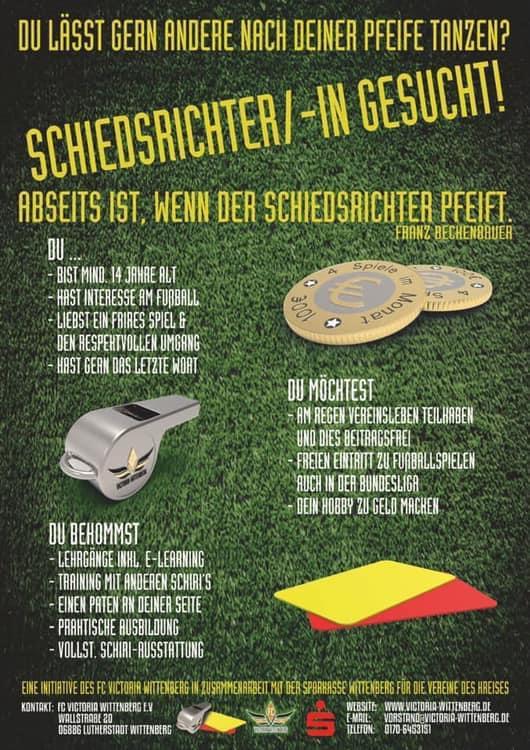 Suche nach Schiedsrichter im Kreis Wittenberg